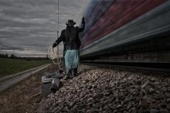 Ropin the train